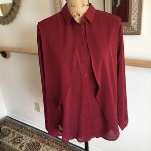 Lush flowy button front blouse